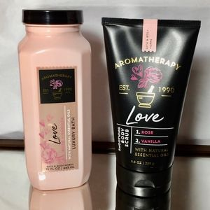 Aromatherapy Love Rose Vanilla 2 Pc Bundle